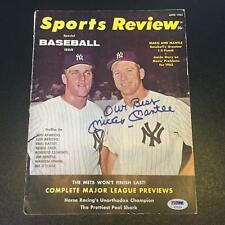 Beautiful Mickey Mantle Signed 1962 Sports Magazine With Roger Maris PSA DNA COA