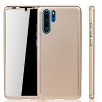 Huawei P30 Pro Étui Coque Étui pour Portable Housse Sac Étui Film Blindé Or