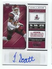 JALEEL SCOTT RC 2018 Contenders Draft AUTOGRAPH College Ticket AUTO Aggies