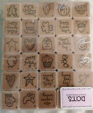 New Listing30 One Inch D.O.T.S. Stamp Theme Holiday's Crafts Stamping & Embossing Stamps