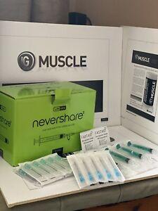 sterile nevershare Syringes, Unisharp needle Pointed End Tip Storage Cap glue