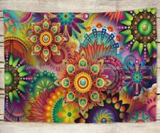 trippy psychedelic tapestry cloth poster wall blanket decor