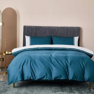 Egyptian Cotton Satin Linens Fitted Sheet Ru Europe Bedding Set Duvet Cover Set