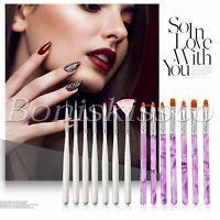 14pcs/set UV Gel Nail Art Brush Polish Painting Pen Salon Manicure DIY Tool