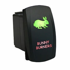 Rocker switch 627GR 12V BUNNY BURNERS Laser LED green red offroad