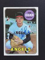 Tom Egan Angels signed 1969 Topps baseball card #407 Auto Autograph