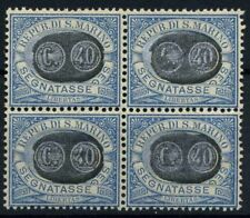San Marino 1931 Sass. 41 Nuovo ** 80% Quartina Segnatasse