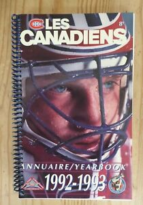 Montreal Canadiens annuaire yearbook 1992-1993 Patrick Roy 224 pages media guide
