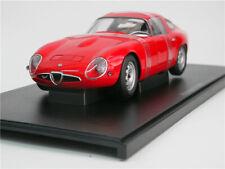 Autoart 1/18 Alfa Romeo Giulia TZ Tubolare Zagato Classic Die-Cast Model Car Red