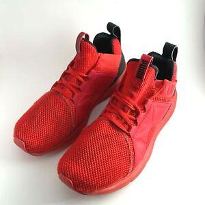 Puma Enzo Training Athletic Running Shoes Mens Size 9 Red Black 191487-06 EUC
