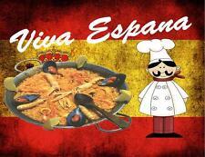 Espagnol Signe Panneau Pub café Paella Design Cuisine DRAPEAU DE L'ESPAGNE