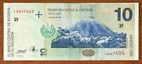 BANKNOTE  EL SALVADOR  10 COLONES OF LAST DESIGN 97 OR 98 VF - IZALCO VOLCANO
