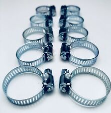10 x Jubilee Style Clips Hose Clamp Pipe 18mm - 27mm Water Tap Garage Plumbing