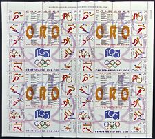 ESPAÑA 1994 - EDIFIL 3325/34** - 1 PLIEGO COMPLETO DEPORTES - ORO - MNH
