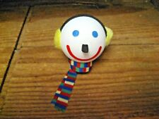 Vintage Jack In The Box Automobile Antenna Ball Jack Wearing Ear Muffs & Scarf