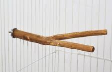 PERCHOIR POUR PERROQUET GRIS DU GABON-ARA-CACATOES  DOUBLE EN BOIS 30 CM  AR0006