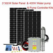 "3"" Screw Deep Well Solar Pump Submersible Bore Pump MPPT Controller+Solar Panel"