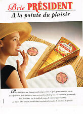 PUBLICITE ADVERTISING 015  1995  LE BRIE PRESIDENT  fromage