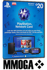 PSN Network Card 20€ EUR 20 Euro Playstation Prepaid Code PS3/4 Österreich - AT
