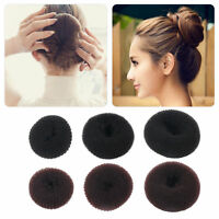 3 PCS Women Donut Bun Shaper Hair Ring Magic Blonde Hair Styler Maker Tools Set