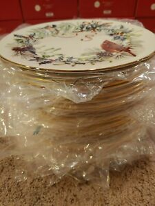 Brand New Lenox Winter Greetings Dinner Plate 1 or 15 Available Free Shipping