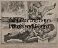 Antique Print 78-005 Bushranger - Ned Kelly c.1880 Bushrangers