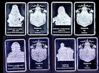 ★★ COLLECTION DE 4 MEDAILLES PL. ARGENT : LOUIS XIII, XIV, XV, XVI ★