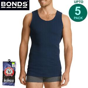 Bonds Multi Pack Navy Mens Chesty Cotton Singlet Vest Tank Top Undergarment