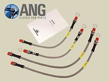 TRIUMPH STAG MkI & II STAINLESS STEEL FRONT & REAR BRAKE HOSES (CAR SET)