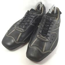 Guess Mens Fashion Sneakers Shoes Black Leather Lace Up  Square Toe Italy 7.5