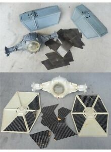 *2 Vintage Star Wars* TIE FIGHTERS *WHITE IMPERIAL & VADER* For Parts Only! 1978