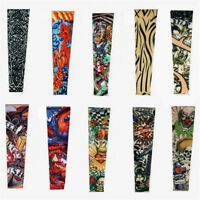 1pc Fake Polyester Kid Temporary Tattoo Sleeves Arm Stockings Goth Punk Adult
