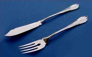 Baroque Fish Cutlery, 1 Fischheber + 1 Fish Fork, Wilkens, 800er Silver A111