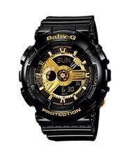 BRAND NEW CASIO BABY-G BA110-1A BLACK/GOLD GLOSS WOMAN'S ANA DIGI WATCH NWT!!!