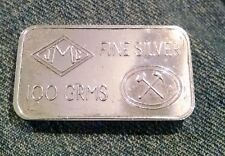 JOHNSON MATTHEY LONDON 100 GRAM .999 SILVER BAR ~ JMC ~ BANK OF ENGLAND ~ RARE
