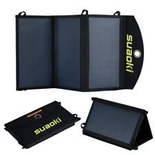 New Portable Foldable Suaoki 20W Solar Panel Charger High Efficency Dual-Port