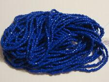 9/0 HANK 3 CUT MEDIUM BLUE OPAQUE CZECH GLASS SEED BEADS