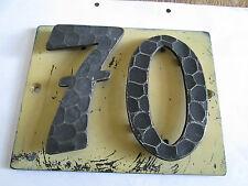 Hausnummer Nr. 70 Schmiede - Eisen  17 cm x 14 cm gebraucht