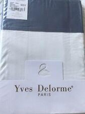 Yves Delorme COCON BALTIC BLANC SATIN King Superking FLAT Sheet