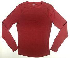 CARBON Men/'s Long Sleeve Button T-Shirt Gray//Blue Small FREE SHIPPING H13