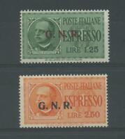 RSI E LUOGOTENENZA 1944 EX GNR BRESCIA II 2V. **  CERT.