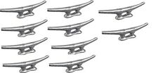 """MARINE DOCK CLEAT 4"""" GALVANIZED OPEN BASE BOAT 25 PACK"""