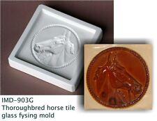 IMD-902G Thoroughbred horse TILE 6x6 fusing mold NEW