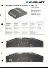 Blaupunkt Service Manual für PSA 168