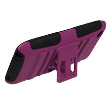 APPLE iPOD TOUCH 4 DUAL LAYER HYBRID ARMOR CASE W/KICKSTAND PINK