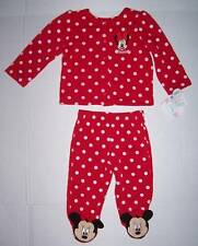 NWT Disney Minnie Mouse 2 piece footed outfit 3 6 month