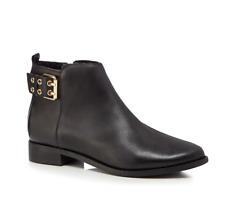 Faith Brogana Womens UK 5 EU 38 Black Leather Zip Up Biker Style Ankle Boots
