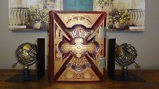 1885 Antique Family Bible Excellent Leather Gold Stamping KJV Heirloom ART VTG