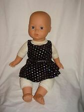 "Handmade Lycra Leotard and skirt  ideal for a 18"" baby annabell or build a bear"