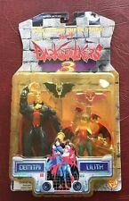 TOY BIZ Capcom Darkstalkers 3 figure 2 pc set Demitri & Lilith NEW factory seale